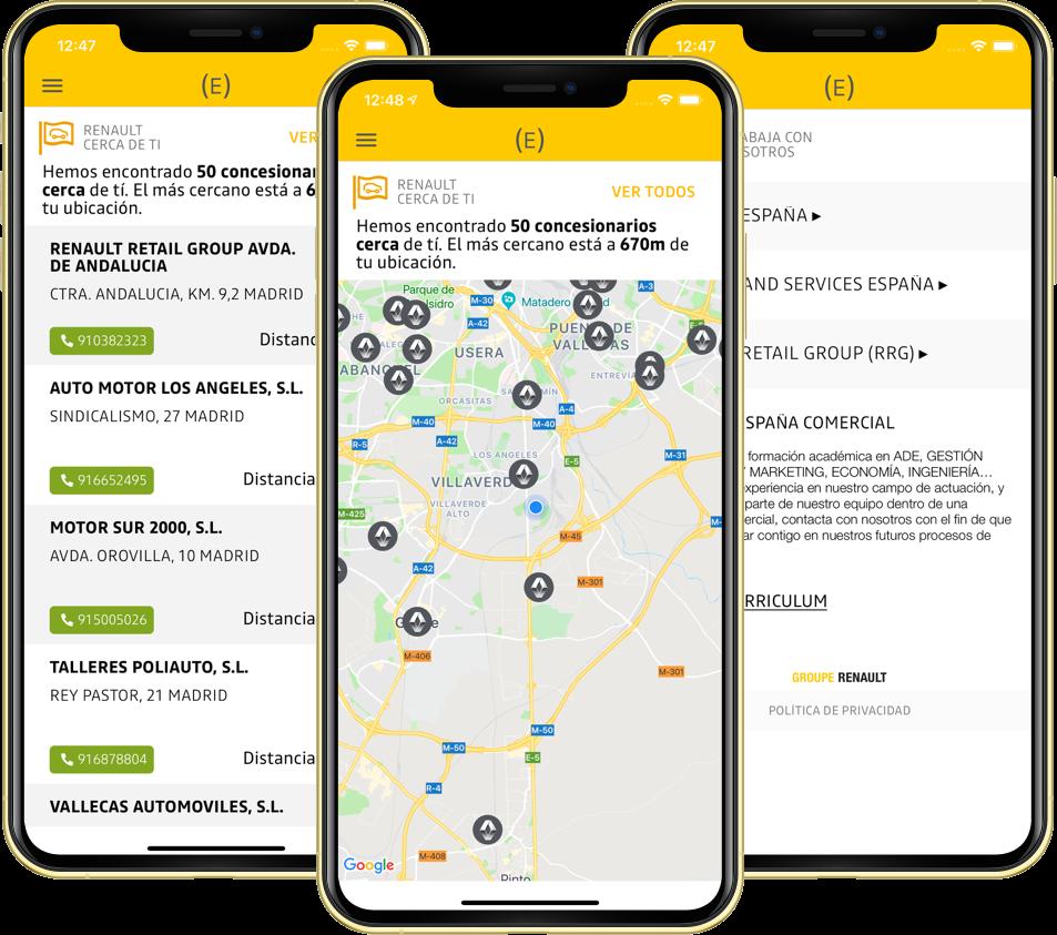 app espacio empleados renault funcionalidades