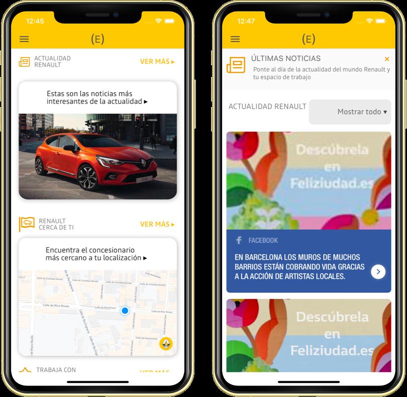 app espacio empleados renault notificaciones