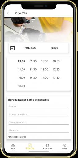 Funcionalidades app Cristalbox